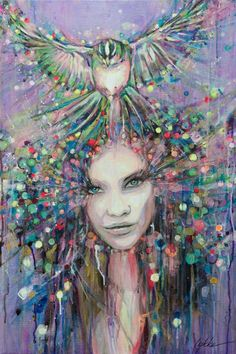 "Saatchi Art Artist Lykke Steenbach Josephsen; Painting, ""Night wings"" #art"