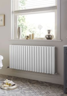 The Designer Radiator Company - Towelrads Dorney Double Horizontal Bedroom Radiators, Modern Radiators, Horizontal Radiators, Hallway Designs, Hallway Ideas, Loft Conversion Bedroom, Houses
