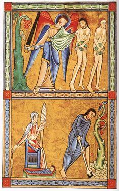 Adam & Eve, The York Psalter, c. 1170