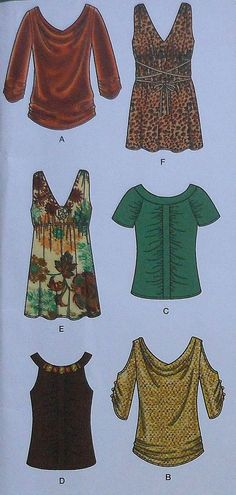 Casual Blouses Sewing Pattern
