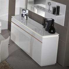 Malmo Collection Grey Portofino Oak Finish Display Cabinet