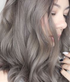 ash gray hair More