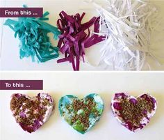 Seed paper DIY!  I want to do this ! Seed Craft, Seed Bombs, Wildflower Seeds, Flower Bomb, Seed Starting, Starters, Paper Flowers, Wild Flowers, Shredded Paper