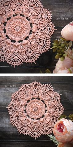 Mandalas are useful as coasters or wall decorations, they look really amazing and very original. I'm sure you will fall in love with these colourful Free Crochet Doily Patterns, Crochet Snowflake Pattern, Crochet Doily Diagram, Crochet Motif, Knitting Patterns, Mandala Crochet, Crochet Borders, Crochet Dollies, Crochet Flowers