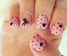 Heart Nail Designs Pretty in pink nail art. Polka dots, bows, and hearts ❤️Pretty in pink nail art. Polka dots, bows, and hearts ❤️ Heart Nail Art, Dot Nail Art, Pink Nail Art, Polka Dot Nails, Heart Nails, Pink Nails, Polka Dots, Nail Art Bows, Pink Manicure