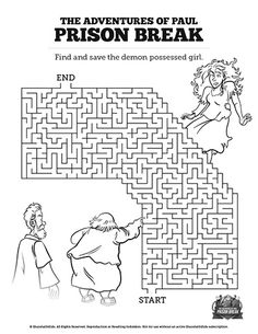 bible coloring pages about acts 16 | Romans 3 Justification Bible Mazes: Can your kids navigate ...