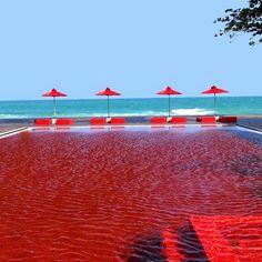 O que você acha de uma piscina VERMELHA? Essa é a proposta da piscina do Hotel THE LIBRARY em Koh Samui na Tailândia. É chocante não? No Brasil uma famosa piscina vermelha fica localizada no topo do Hotel Unique e foi feita com pastilha Vidrotil que você encontra com todas as cores aqui na Ulishop. #ulishop #vistasuacasa #arquitetura #arquiteto #architect #instaarch #architecture #decor #decoração #design #inspiração #casa #revestimento #acabamento #home #homeideas #designinteriores #piscina…