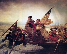 Washington Crossing the Delaware - 1851 oil-on-canvas - German American artist Emanuel Gottlieb Leutze