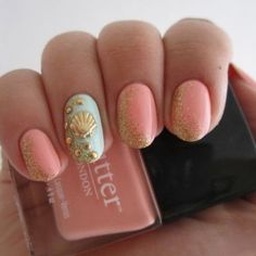 beach beauty: hair nails, makeup Nails for summer: beach nails #DIY #Design #Nails by GodMick