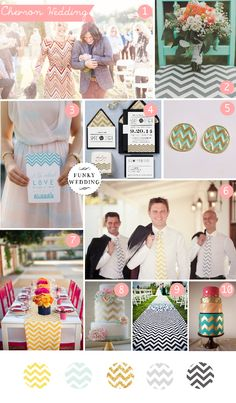 Chevron wedding inspiration board