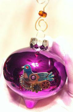 Items similar to Bright Purple Steampunk Christmas Ornament on Etsy Bright Purple, Purple Haze, Purple Christmas Ornaments, All Things Purple, Christmas Inspiration, Auntie, All Things Christmas, Steampunk, Holiday Decor