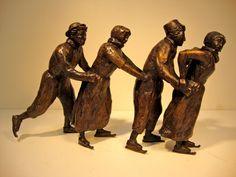 Okke Weerstand Sculptures » Schaatsenrijden Ice Skaters, Skating Dresses, Figure Skating, Sculptures, Victorian, Statue, Dutch, German, Prints