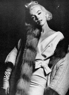 The white dress sitting by Bert Stern, 1962.
