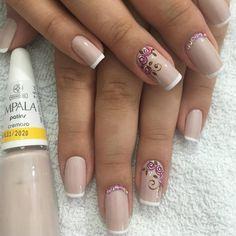 26 Ideias de Unhas decoradas Francesinhas (Com Esmaltes Usados) Manicures, Nails, Nail Designs, Nail Art, Biscuit, Beauty, Perfect Nails, Pretty Nails, Gorgeous Nails