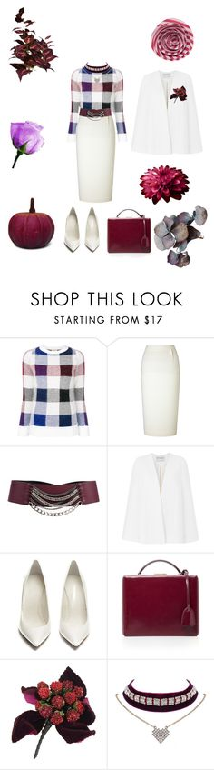"""""""Untitled #1869"""" by fanisikelianou on Polyvore featuring Each X Other, Roland Mouret, Orciani, Amanda Wakeley, Maison Margiela, Mark Cross, Chanel and WithChic"""