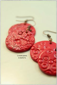 Polymer Clay round earrings
