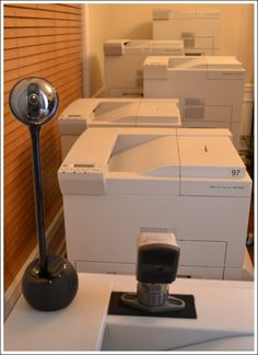 Video cameras monitor for printer jams & other problems.