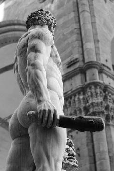 """Hercules and Cacus by Baccio Bandinelli, Piazza della Signoria, Florence Exposure: 1/200 sec; f/3.2; ISO 100; monochrome Created: 2014/06/29 – 10:14 """""""