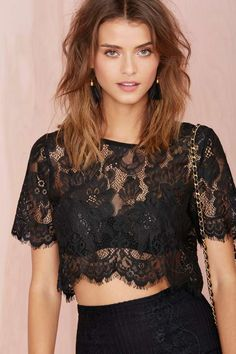 Persuasion Lace Crop Top - Back In Stock