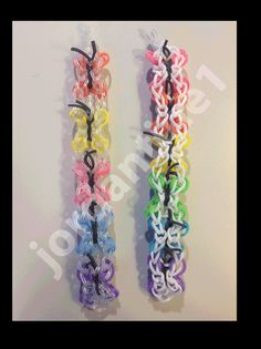New Rainbow Loom Butterfly Bracelet - One or Two Looms
