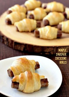 These Maple Sausage Crescent Rolls are perfect for apps, breakfast or even dinner! Make ahead and freeze for when you're ready! And don't forget the special glaze... www.mantitlement.com