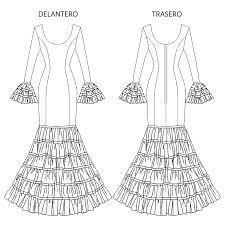 Resultado de imagen de patrones de trajes de flamenca canasteros Flamenco Costume, Estilo Retro, Costumes, Andalucia, Sewing, Kids Fashion, Scrappy Quilts, Carnival, Fashion Patterns