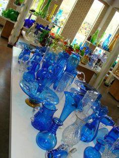 Blinko glass, made in Milton, WV