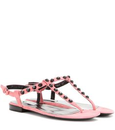 mytheresa.com -  Classic Studded Suede Sandals | Balenciaga * mytheresa - Luxury Fashion for Women / Designer clothing, shoes, bags