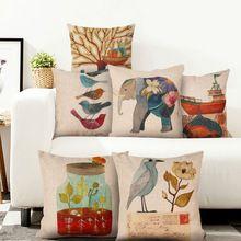 Europa stylu wiejskiej bawełna drukowana Poduszki dla domu sofa krzesło tatami Poduszki Dekoracyjne kawiarnia biuro Samochodów prezent(China (Mainland))