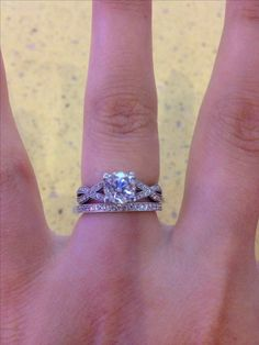 My gorgeous Tacori wedding ring set-- things I don't want. They need to match up-LB