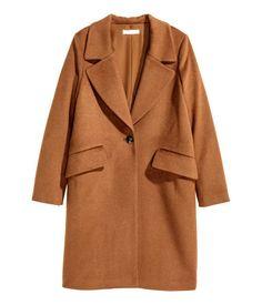 Mantel aus Wollmix   Dunkles Camel   Damen   H&M DE