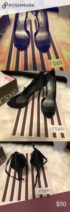 Black Strappy Heel Dressy Black Strappy Heel RSVP Shoes Heels