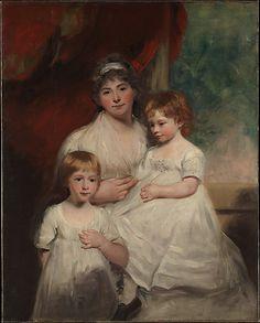 """""""Mrs. John Garden and Her Children, John and Ann Margaret"""" by John Hoppner (1796-1797)"""