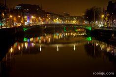Y el sol cae en Ha'penny Bridge, Dublin #LoveDublin
