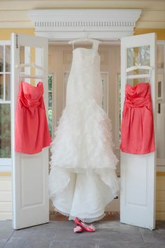 wedding dress and bridesmaid dresses, will be fun to remember, who's was who's in years to come ;)