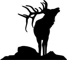 Elk head outline - Google Search