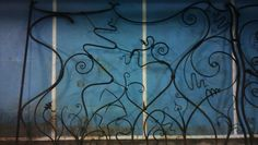 Forged floral gate panel by Tom Fell - Blacksmith