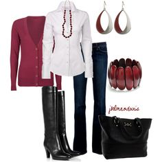 """Deep Red & Black"" by jklmnodavis on Polyvore"