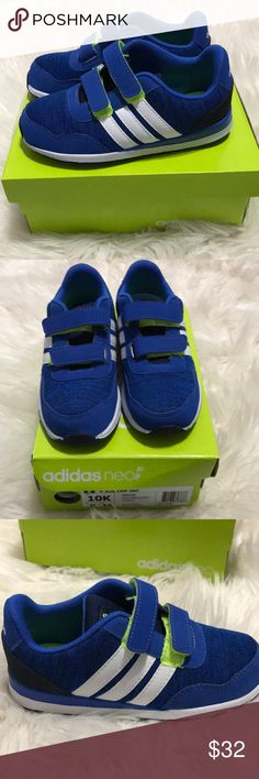 Toddler Adidas NWT blue and white Adidas. Toddler boy size 10 adidas Shoes Sneakers