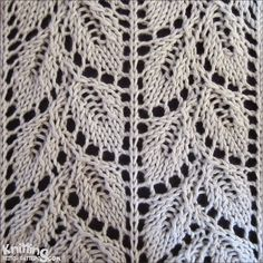 Drooping Elm Leaf stitch pattern