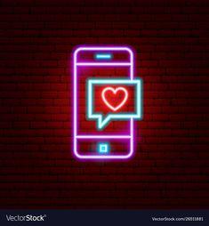 Love phone message neon sign vector image on VectorStock Neon Light Wallpaper, Wallpaper Iphone Neon, Black Background Wallpaper, Pink Wallpaper Iphone, Aesthetic Iphone Wallpaper, Neon Light Signs, Led Neon Signs, Message Logo, Neon Symbol