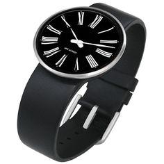 Roman watch by Danish modernist designer Arne Jacobsen - available at Dezeen Watch Store. #watches #watch