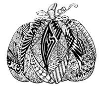 Adult coloring page Pumpkin
