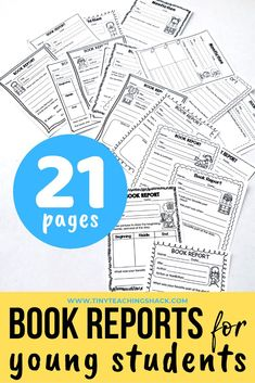 Book Report Templates for Kinder and First Graders Reading Resources, Reading Strategies, Reading Comprehension, Kindergarten Language Arts, Kindergarten Books, Work On Writing, Writing Skills, Vocabulary Activities, Teaching Activities