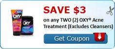 New #Coupon!  SAVE $3.00 on any TWO (2) OXY® Acne Treatment (Excludes Cleansers)! - http://www.stacyssavings.com/new-coupon-save-3-00-on-any-two-2-oxy-acne-treatment-excludes-cleansers/