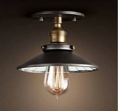 Cheap ceiling lamp, Buy Quality retro ceiling lamp directly from China lamp ceiling Suppliers: Fixture Ceiling Lamp Retro Industrial Iron Classical Metal DIY Loft Light Deco LED Transitional Fireplaces, Transitional Lighting, Transitional Living Rooms, Transitional House, Ceiling Fixtures, Light Fixtures, Ceiling Lights, Deco Led, Loft Lighting