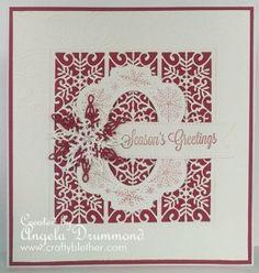 Card made with snowflake striplet die by Sue Wilson