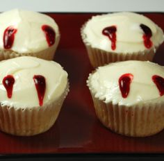 Vampire Bite Cupcakes - Dove Chocolate Discoveries - DCD Recipe Come check out www.mydcdsite.com/joyfullysweet for these ingredients and more. Or email me at ajoyfulstory@gmail.com for more info!