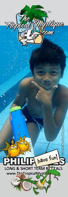 Singing Love Yourself by Justin Bieber under water.... Here is a cute Filipino boy playing in the swimming pool. Visit our website www.TheTropicalMystique.com or on facebook: www.Facebook.com/TheTropicalMystique to view more photos like this one!  Would you like to sponsor one of these cute Filipino boys or girls? Please visit www.TheTropicalBreeze.org for more information!