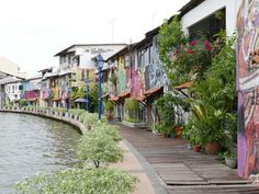 There is some pretty amazing pieces of artwork on the houses that run along the side of the river in Malacca, Malaysia, which is certainly worth a look.